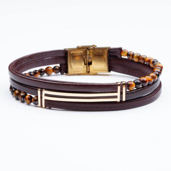 دستبند سنگ و طلا V200