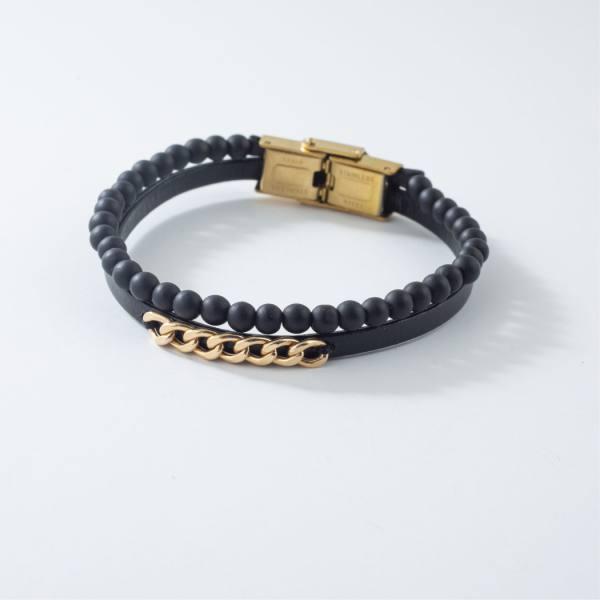 دستبند سنگ و طلا v903