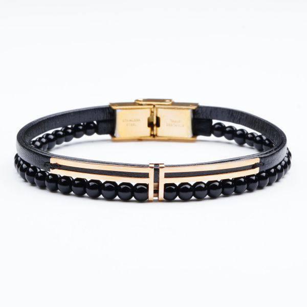 دستبند سنگ و طلا V500