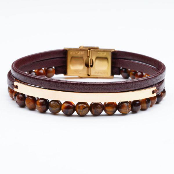 دستبند سنگ و طلا s11