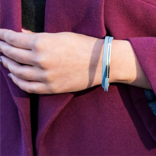 دستبند چرم و طلا M900