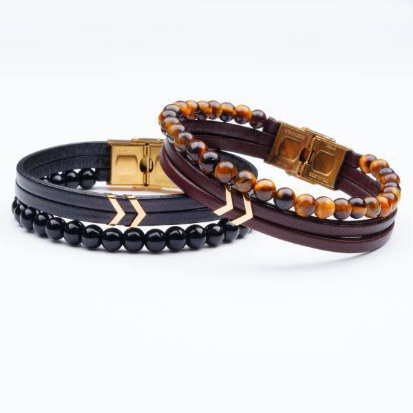 دستبند سنگ و طلا s02